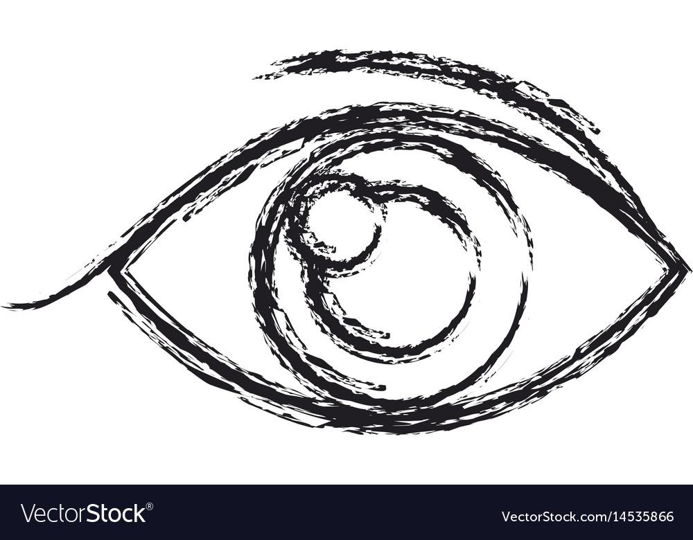 Human eye vision optical look design sketch vector image
