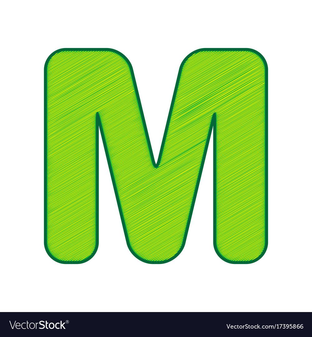 Enement Letter Template | Letter M Sign Design Template Element Royalty Free Vector