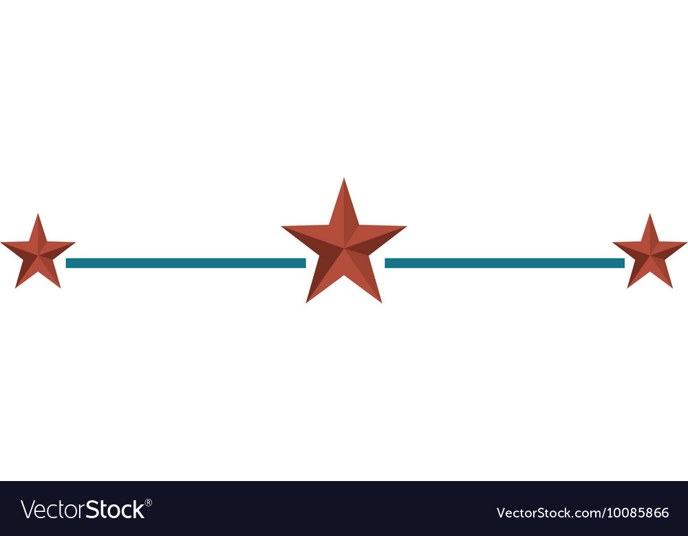 Star united states of america vector image