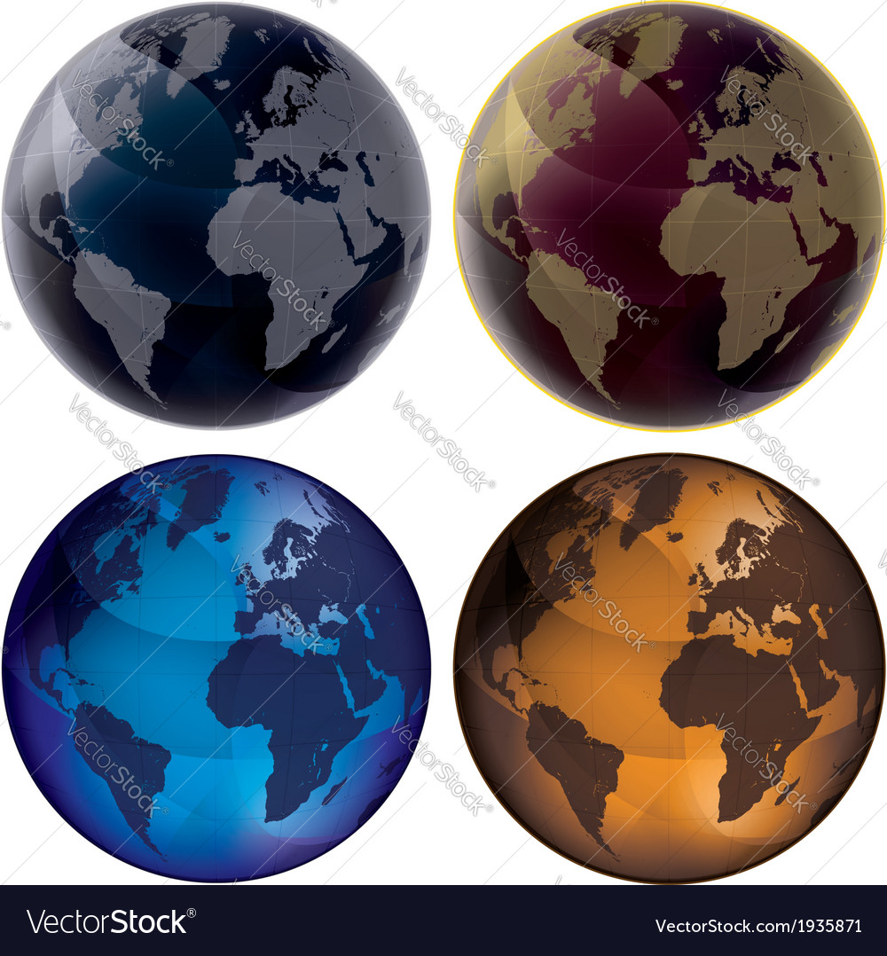 3d Globe Color set