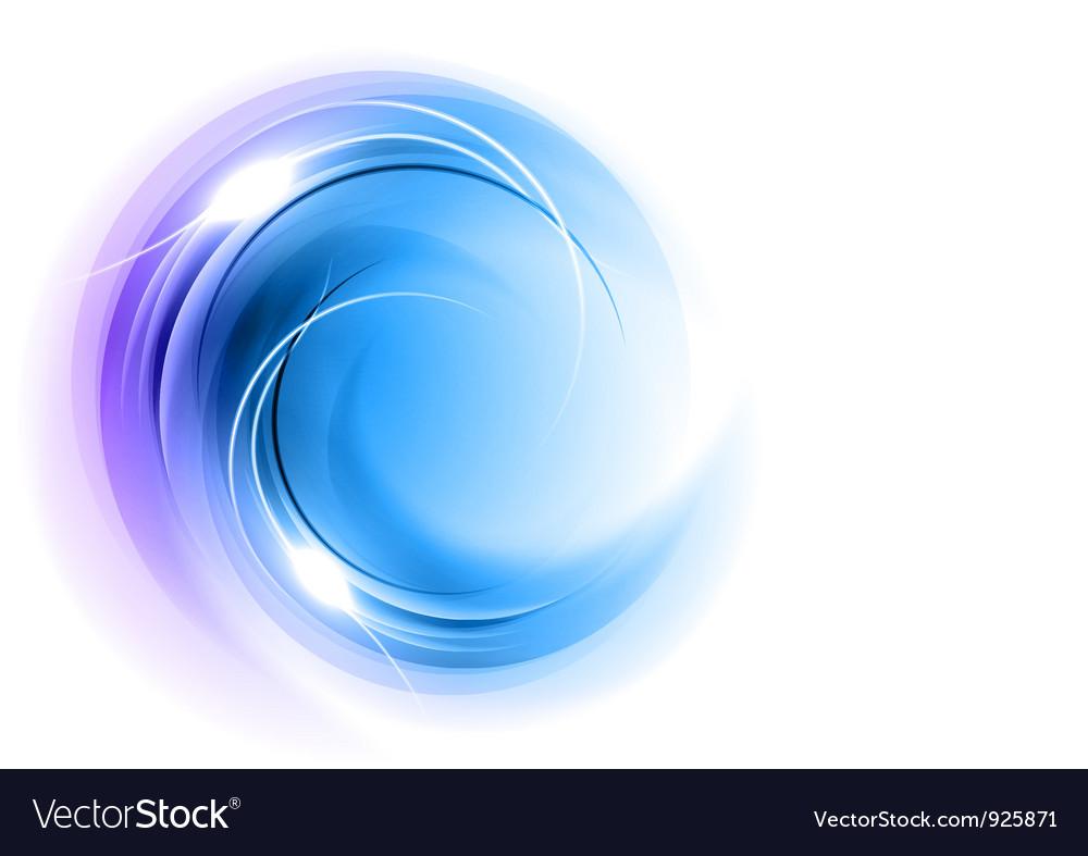 Abstract circle smoke on white blue
