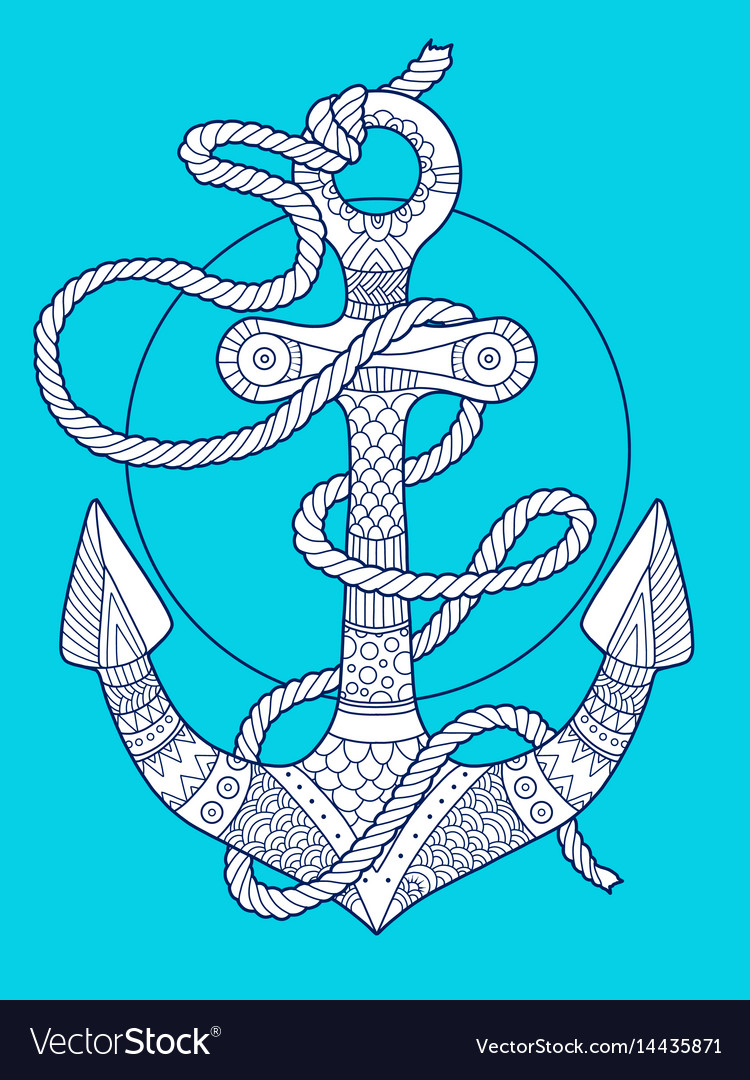 Anchor and rope fashion