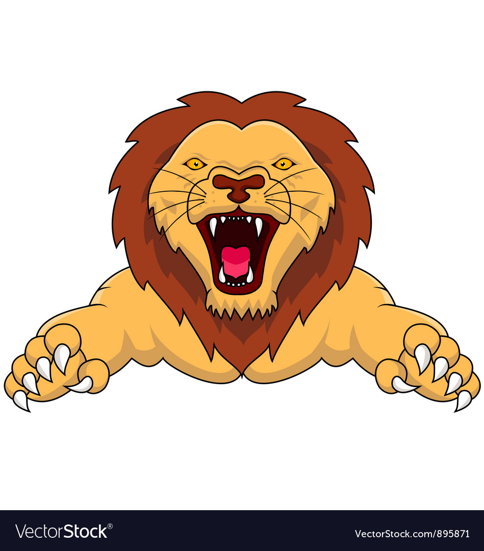 Angry lion cartoon
