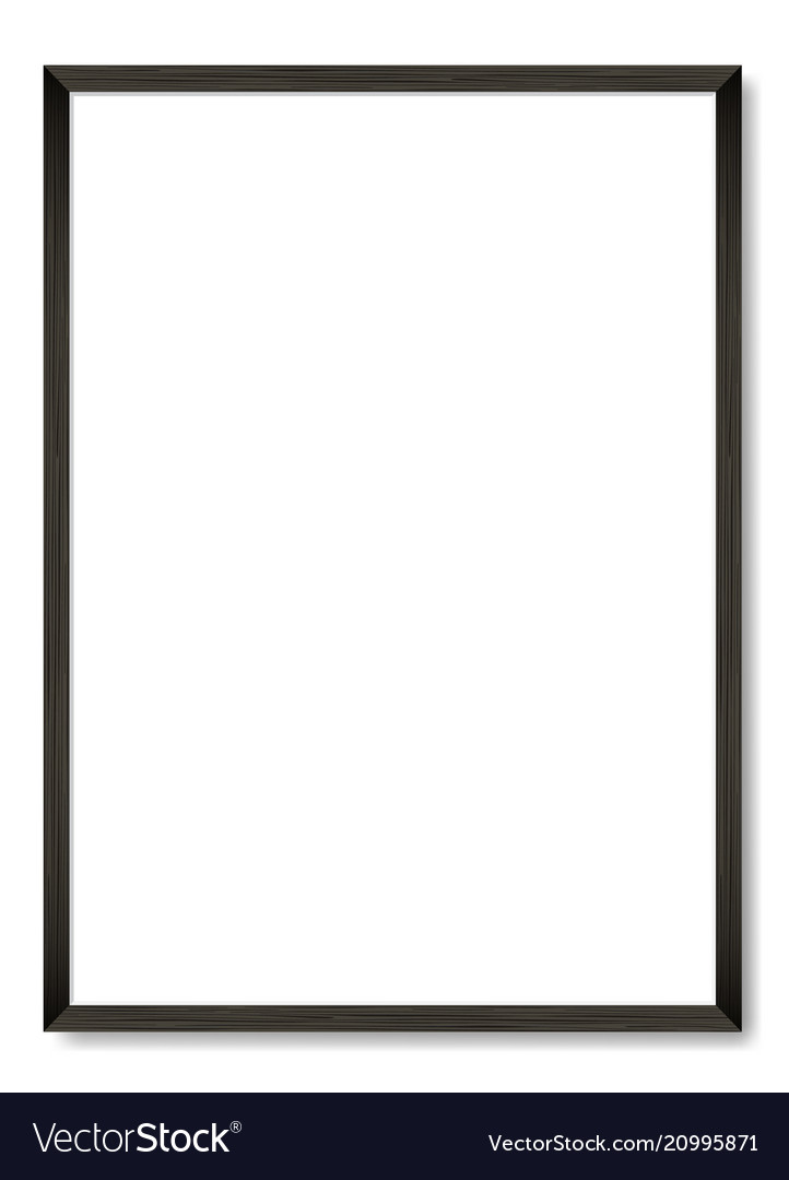 Blank Black Wooden Frame A4 Template Royalty Free Vector