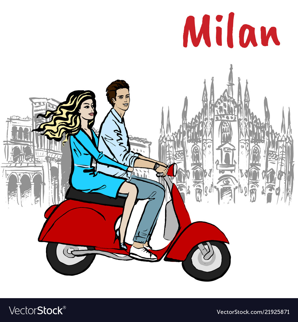 Couple in milan