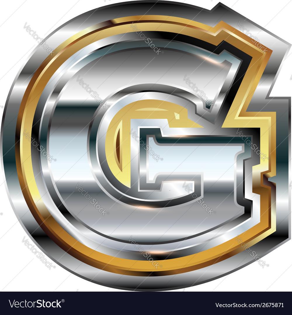 Fancy Font Letter G Royalty Free Vector Image  Vectorstock