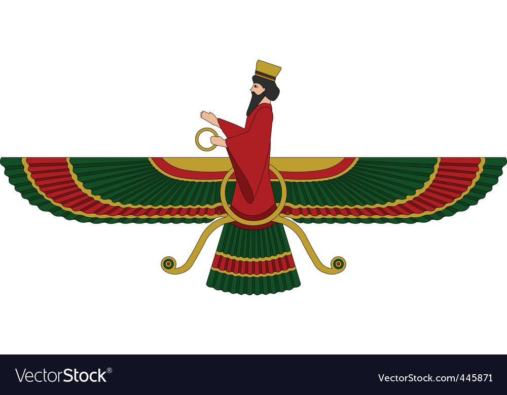 Faravahar or fravashi symbol vector image