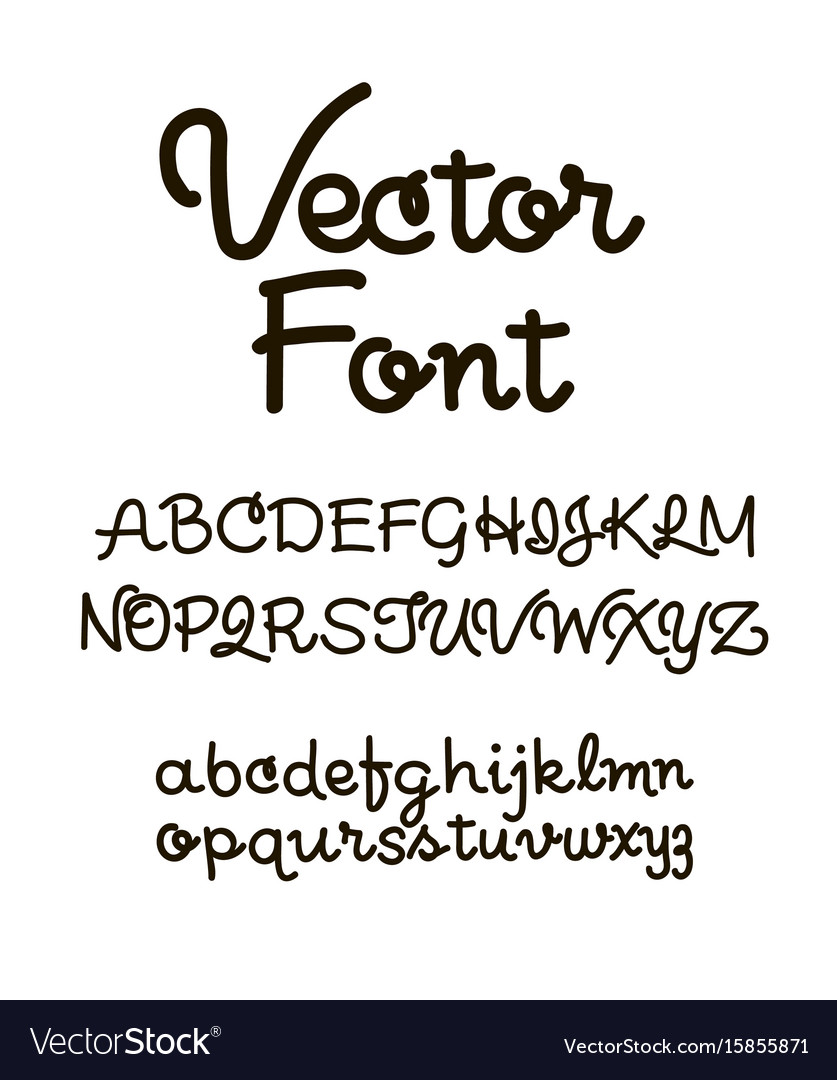 Handwritten alphabet letters abc for your