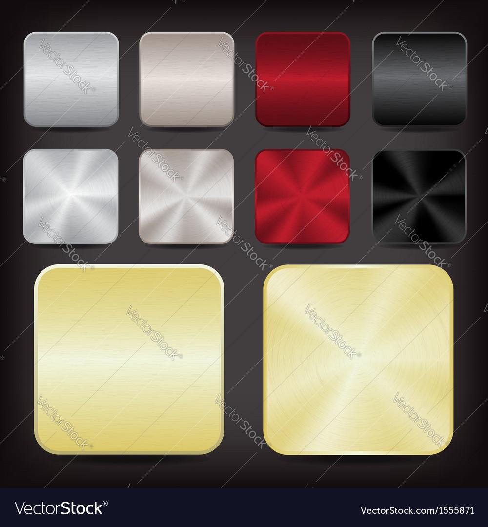 Metallic app icons