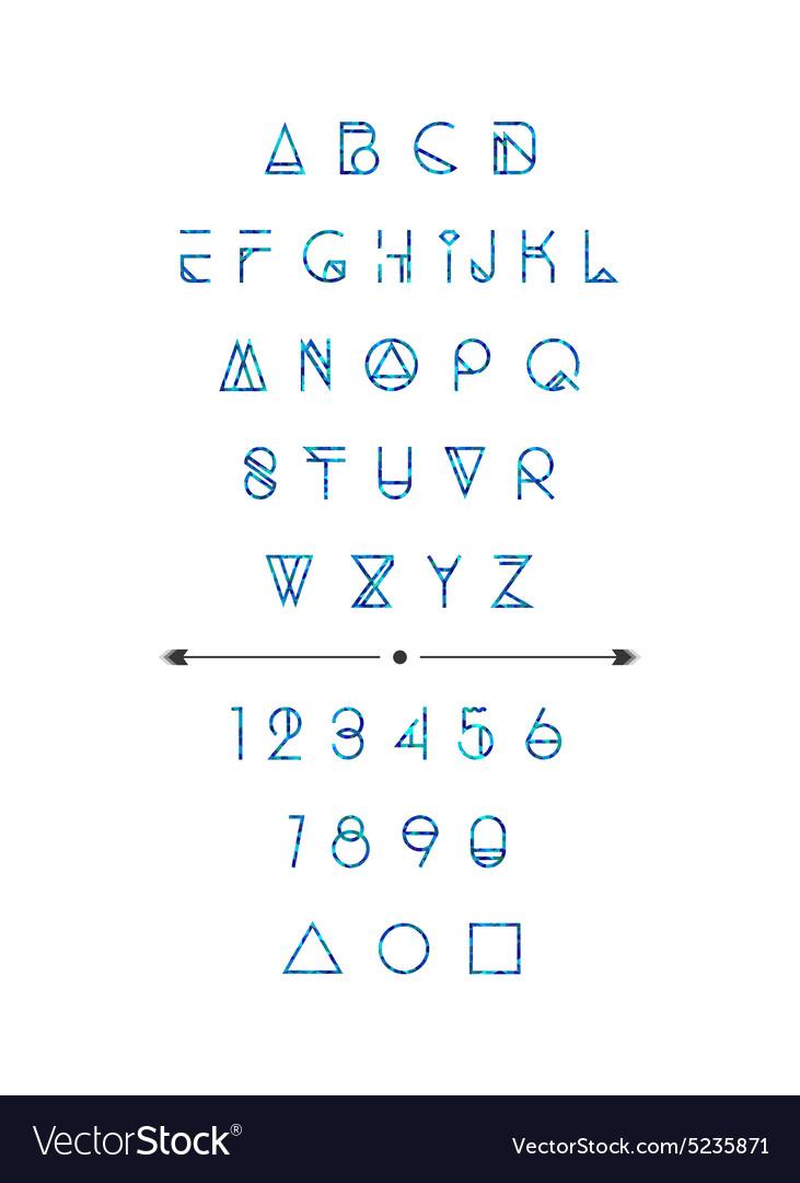 Modern hipster font vector image