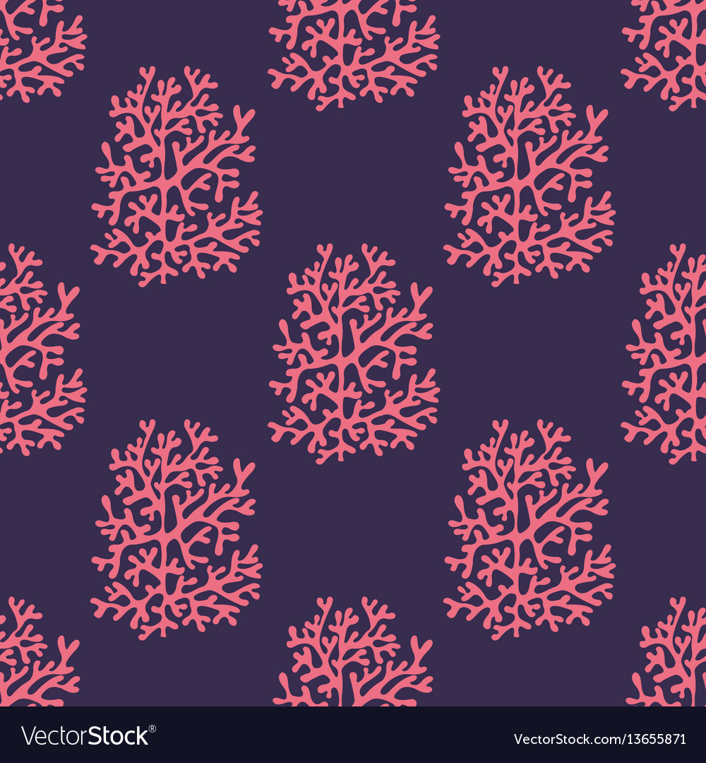 Sea corals on a purple background