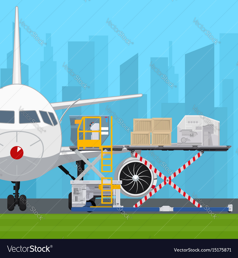 Transportation And Air Cargo Services Royalty Free Vector
