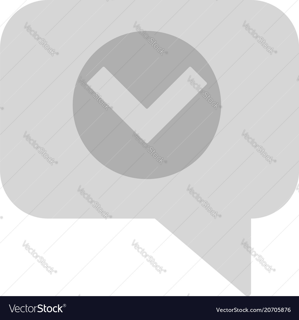Chat with tick icon vector image