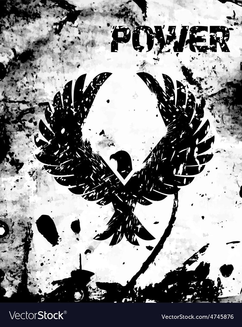 Eagle Black Poster vector image