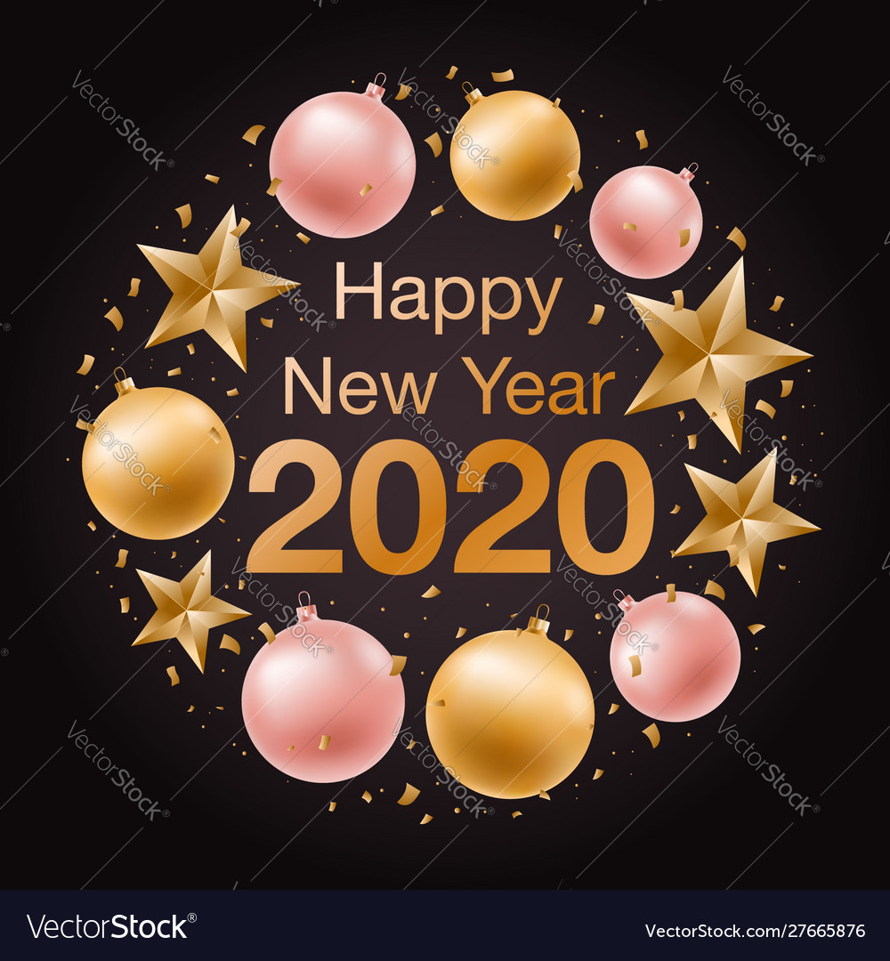 Happy new year 2020 banner greeting background