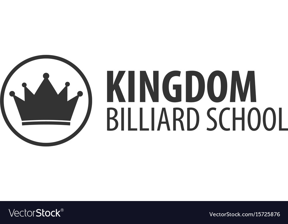 Logo for billiard school club or shop