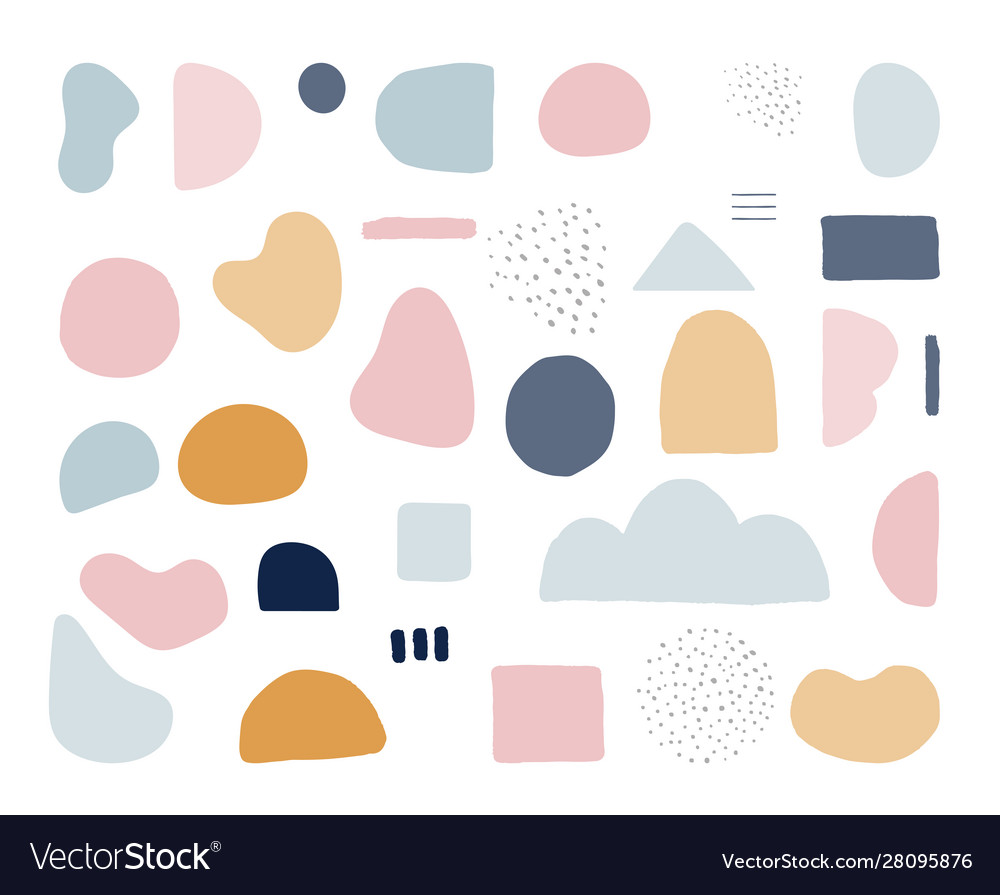 Modern Trendy Abstract Shapes In Pastel Colors Vector Image A collection of the top 53 abstract shapes wallpapers and backgrounds available for download for free. vectorstock