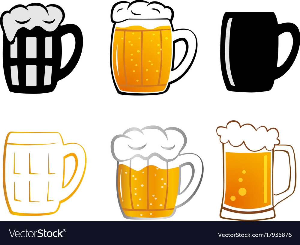 Set lager beer icon