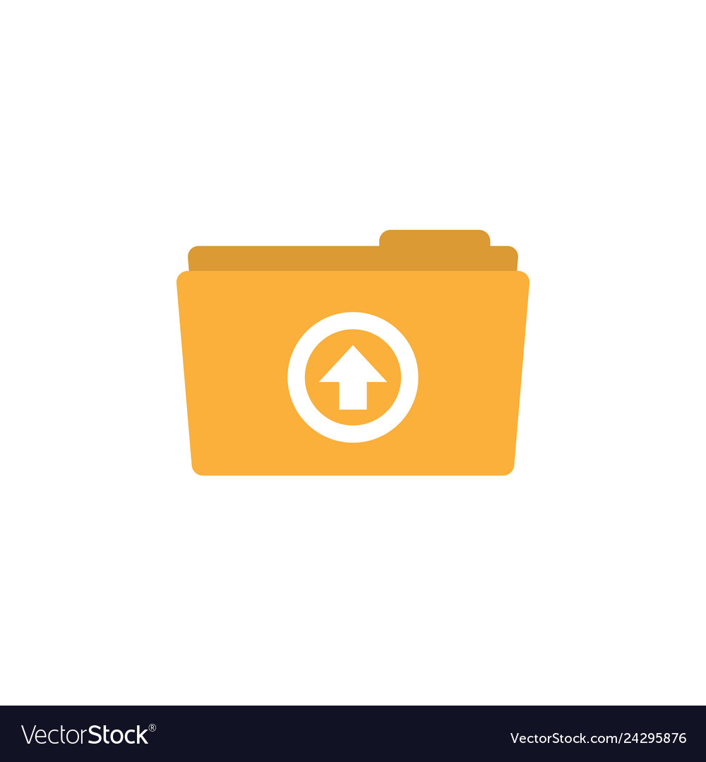Upload folder icon design template isolated