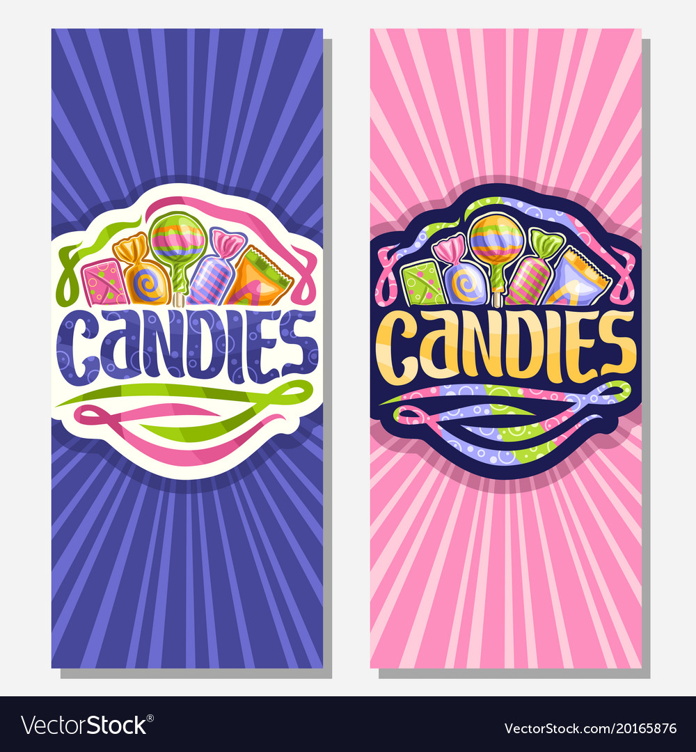 Vertical banners for candies