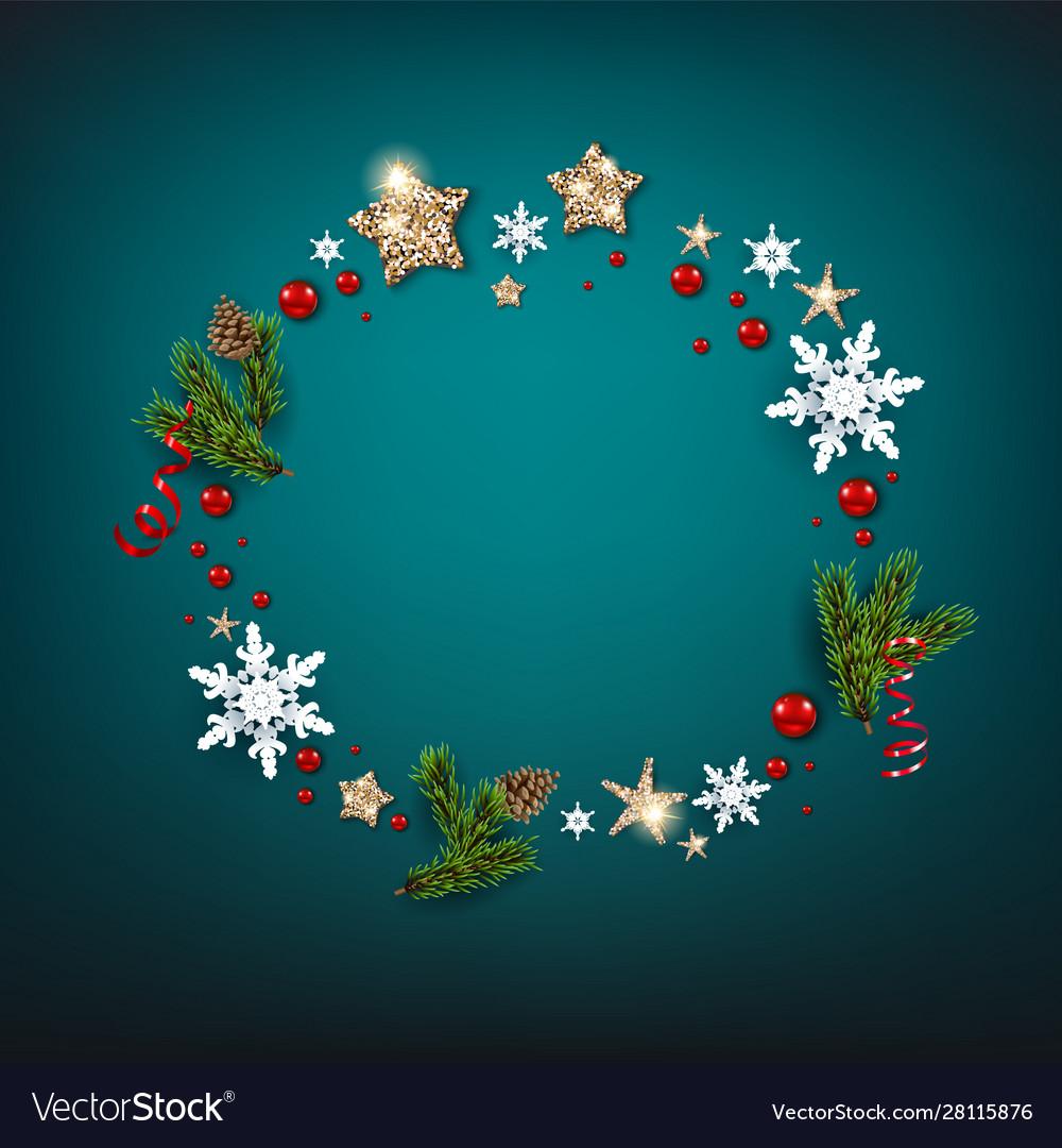 Winter holiday christmas blue design