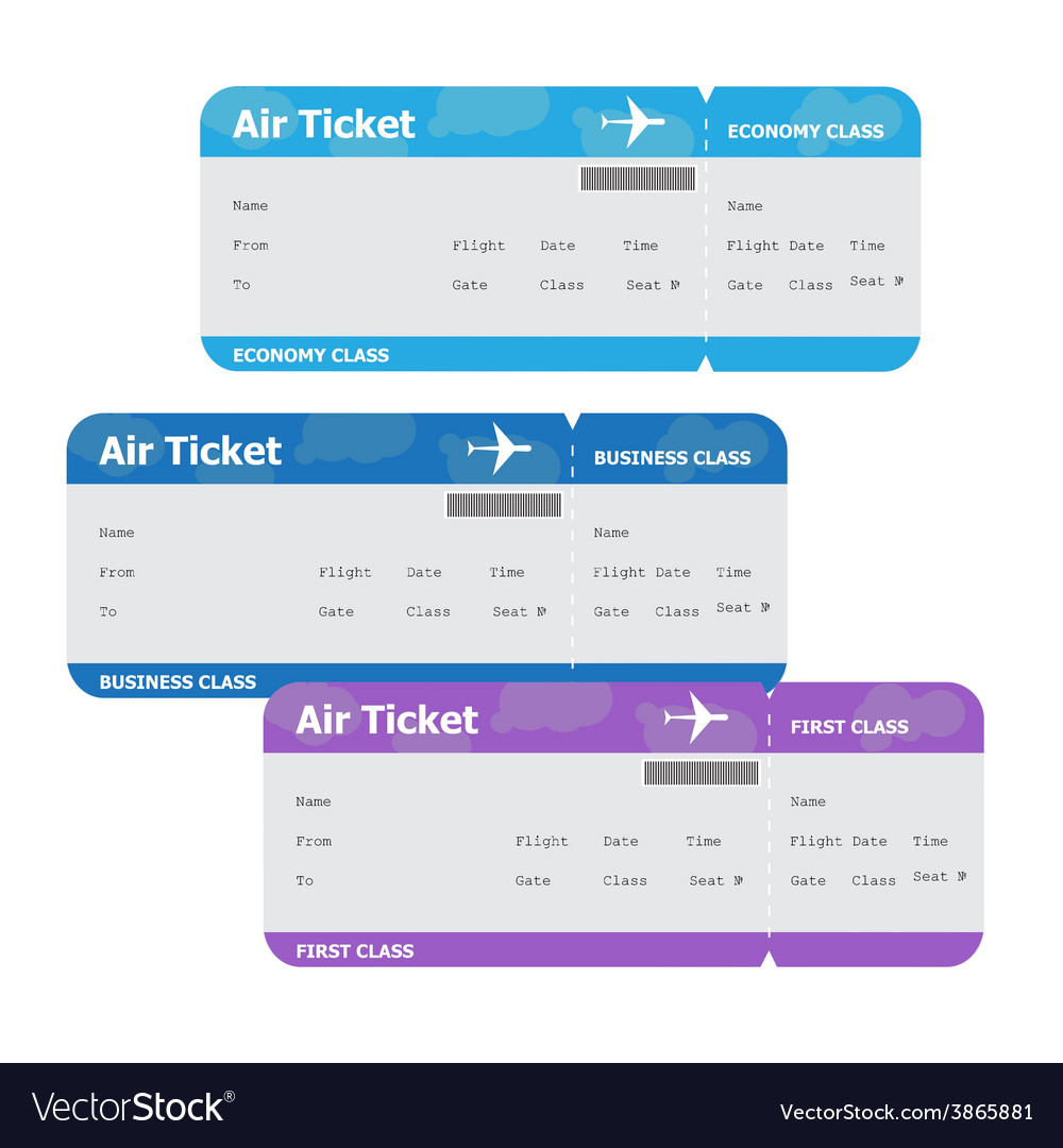 Air Tickets Isolated on White Background