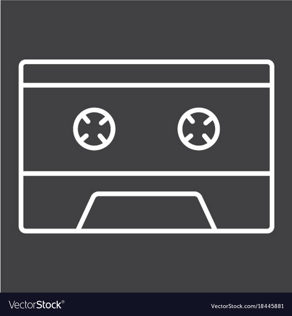 Audio cassette line icon music and instrument