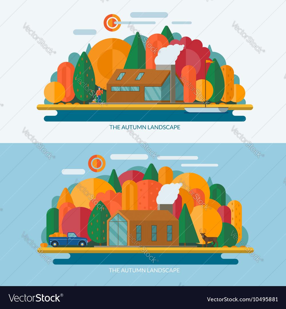 Autumn landscape concept
