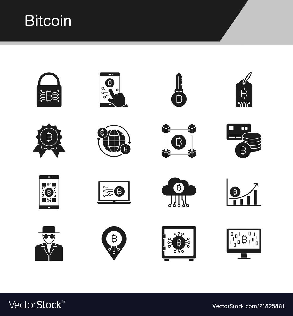 Bitcoin icons design for presentation graphic