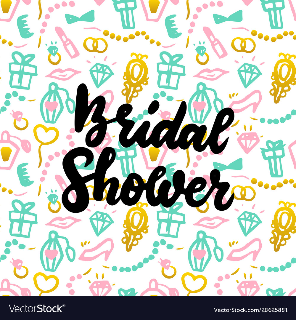 Bridal shower handwritten postcard