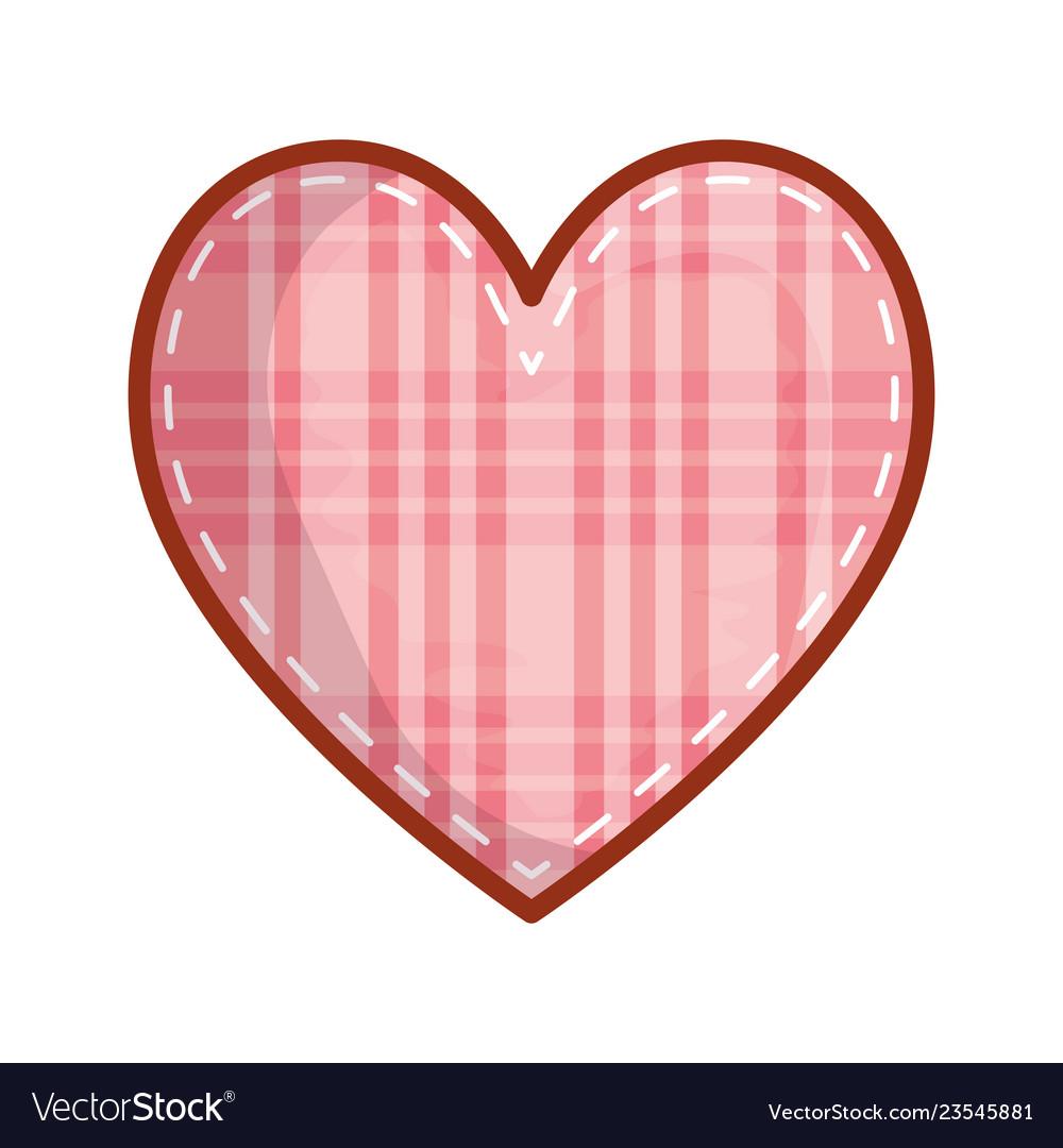 Checkered heart love valentines card