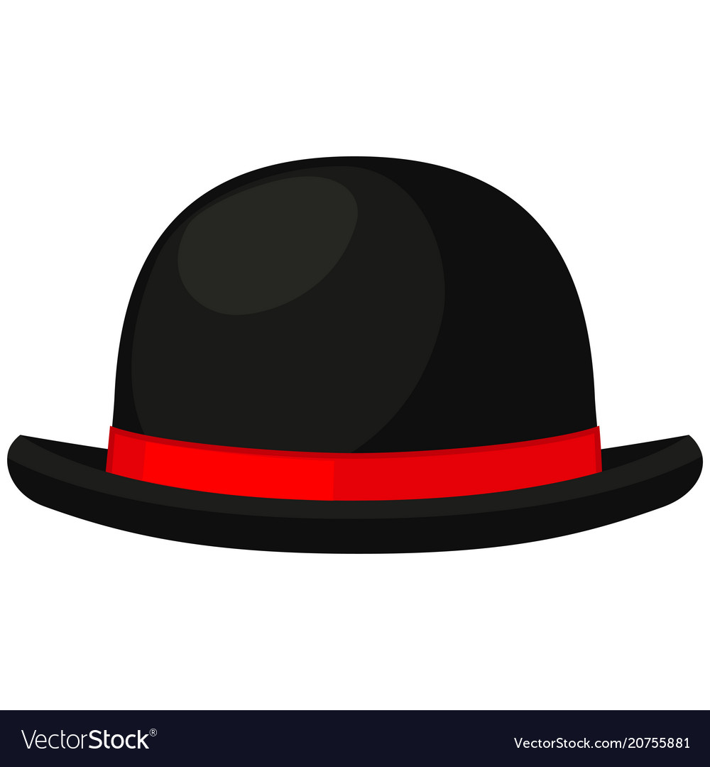 Colorful cartoon bowler hat Royalty Free Vector Image 54904e3040c2