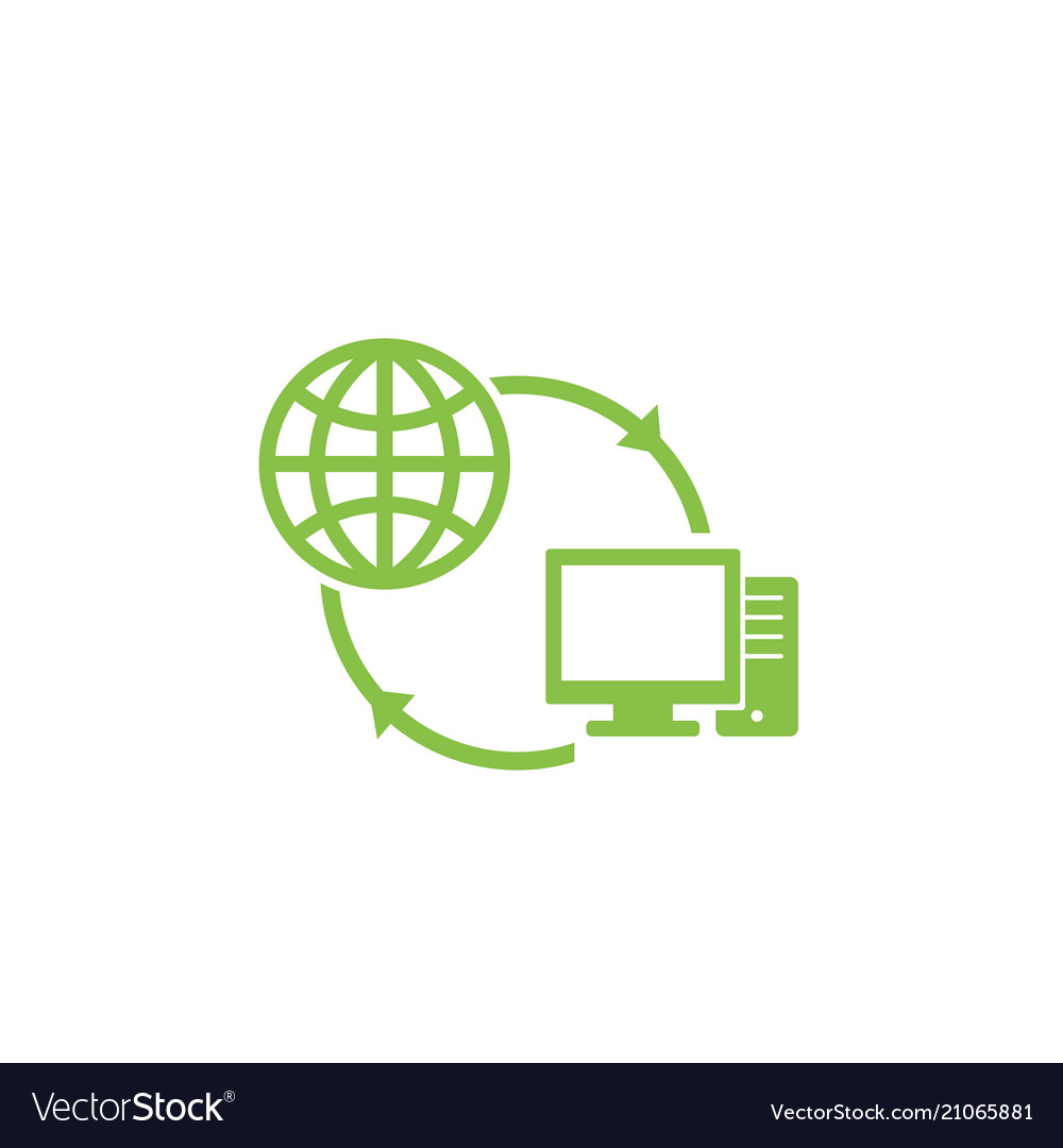 Computer network and internet icon