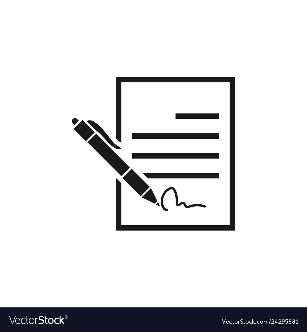 Contract sign icon design template isolated