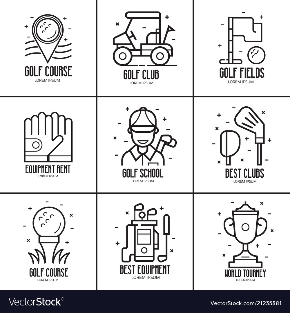 Golf logotypes and emblems