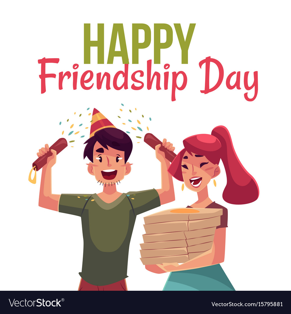 Happy friendship day greeting card royalty free vector image happy friendship day greeting card vector image m4hsunfo