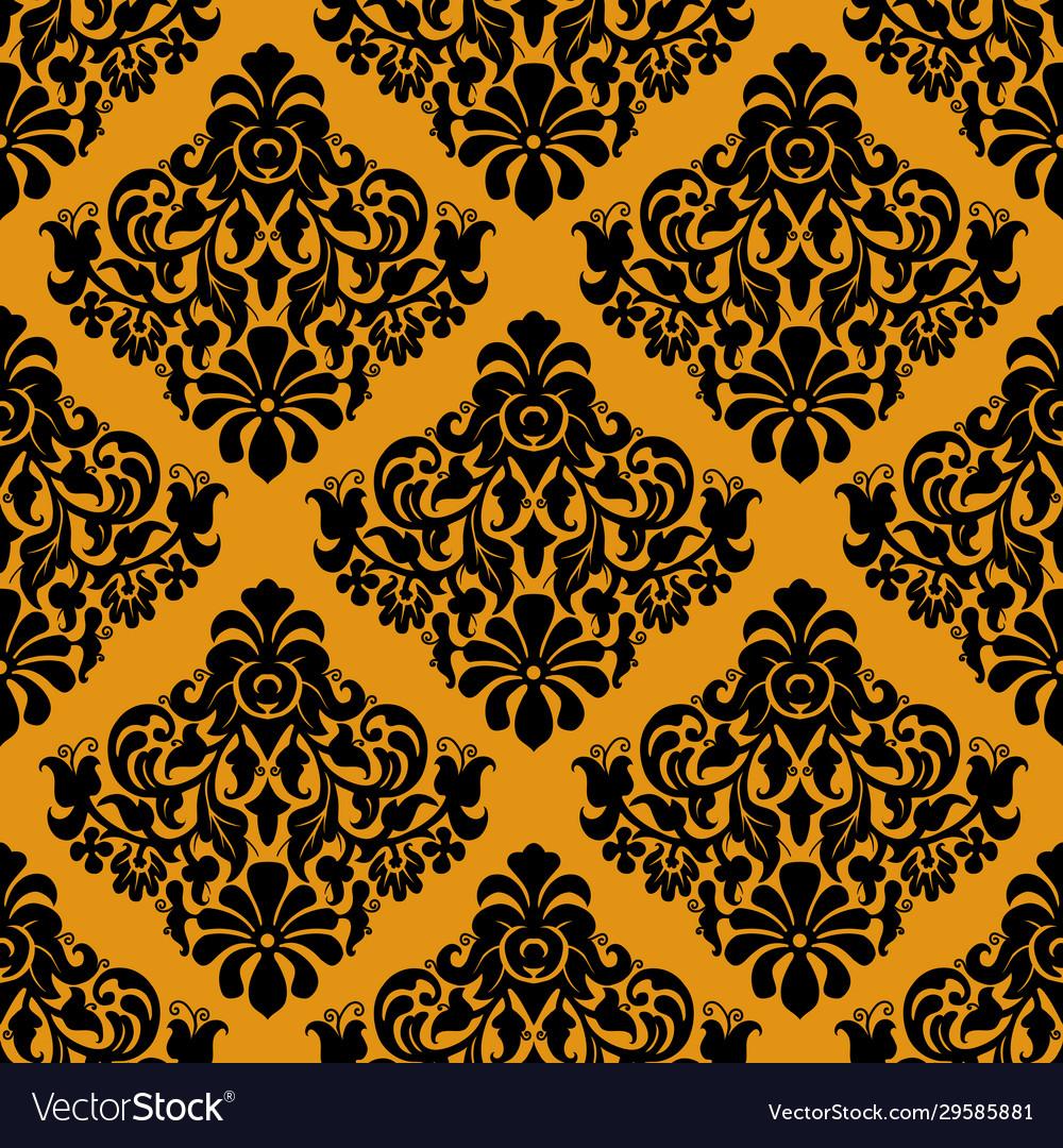 Luxury decorative seamless pattern on golden