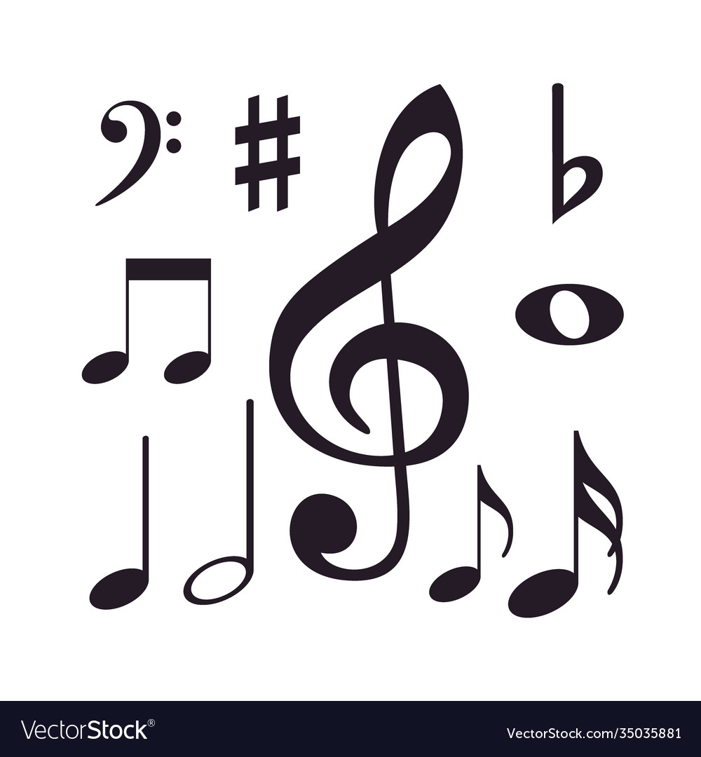 Musical instrument icon design collection set