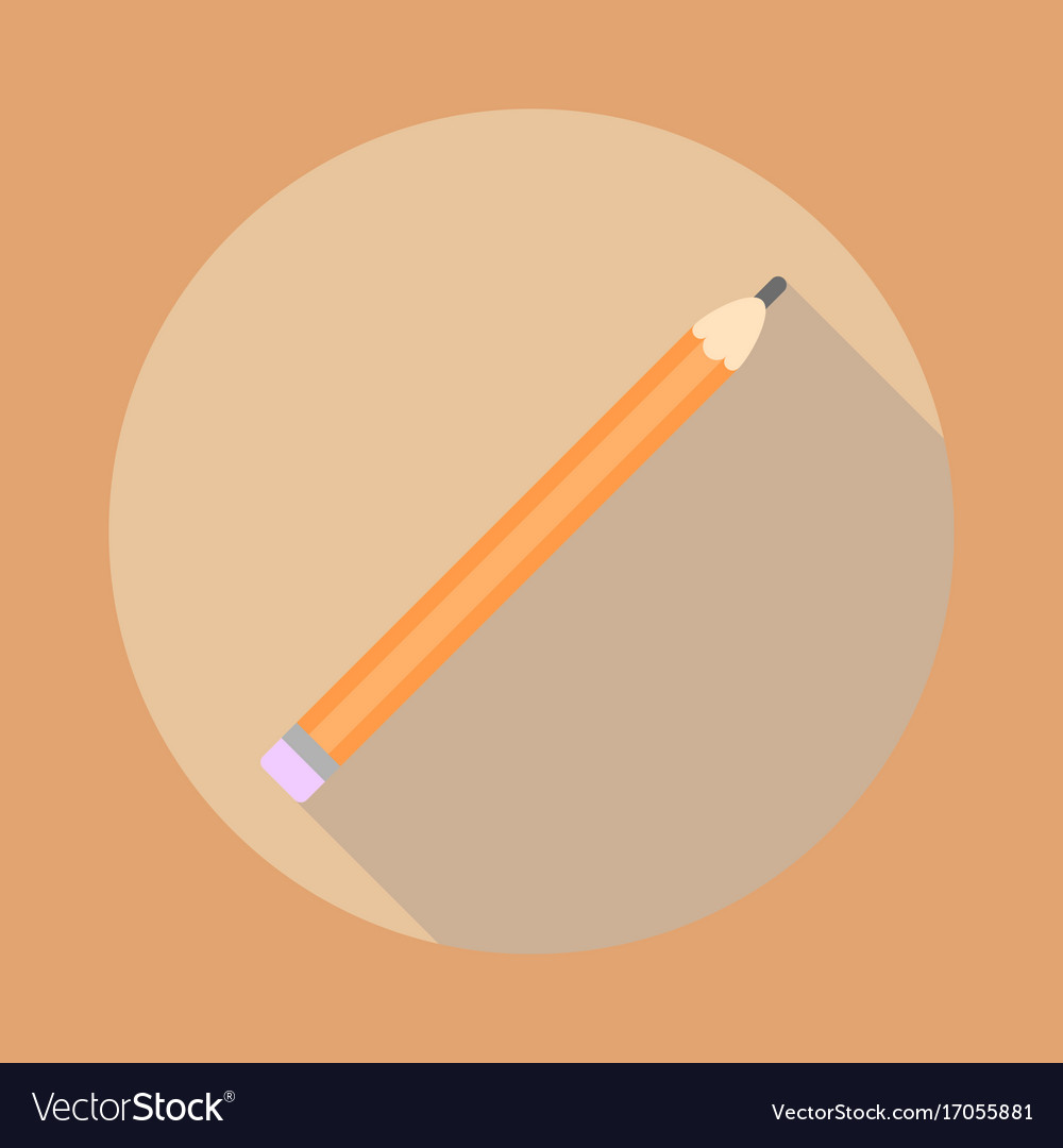Picture of a pencil drawing with an elastic band vector image