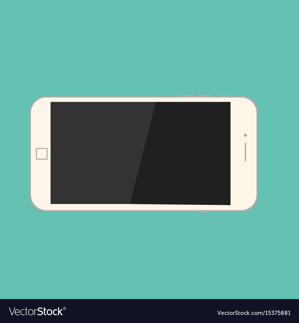 Smartphone on isolate green background mobile vector image
