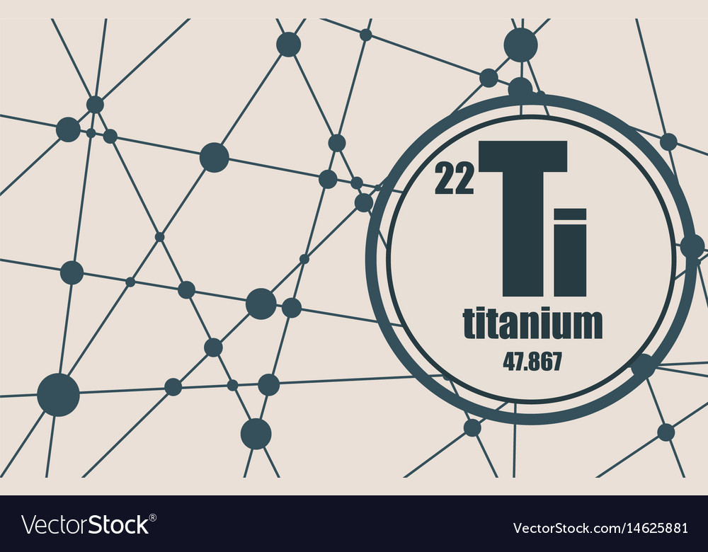 Titanium Chemical Element Royalty Free Vector Image