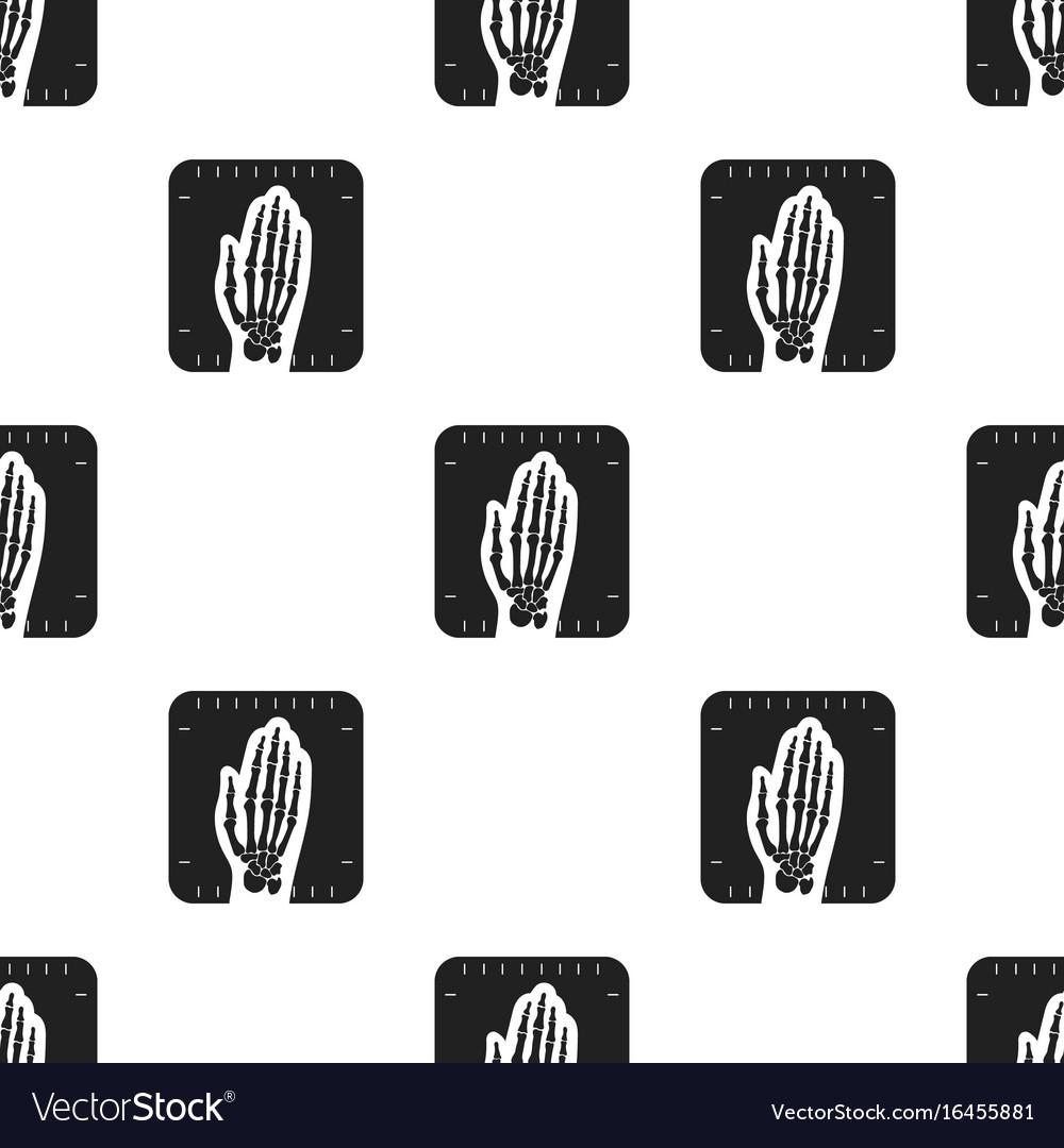 X-ray hand icon black single medicine icon from