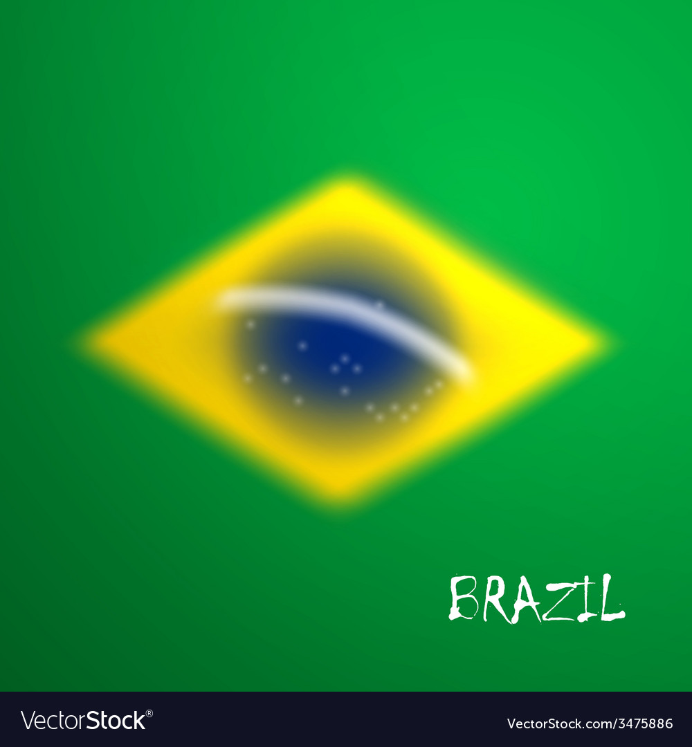 Blurred background in brazil flag concept for