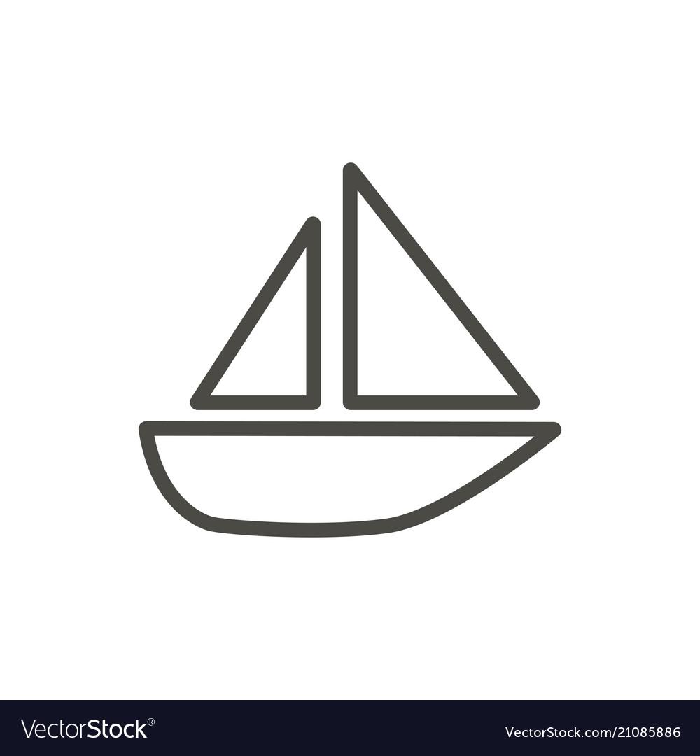 Boat icon line ship symbol
