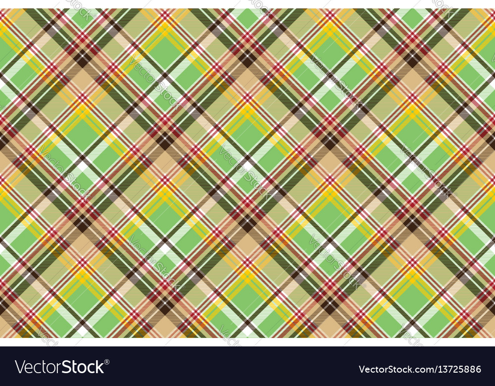Fabric texture plaid green madras seamless pattern