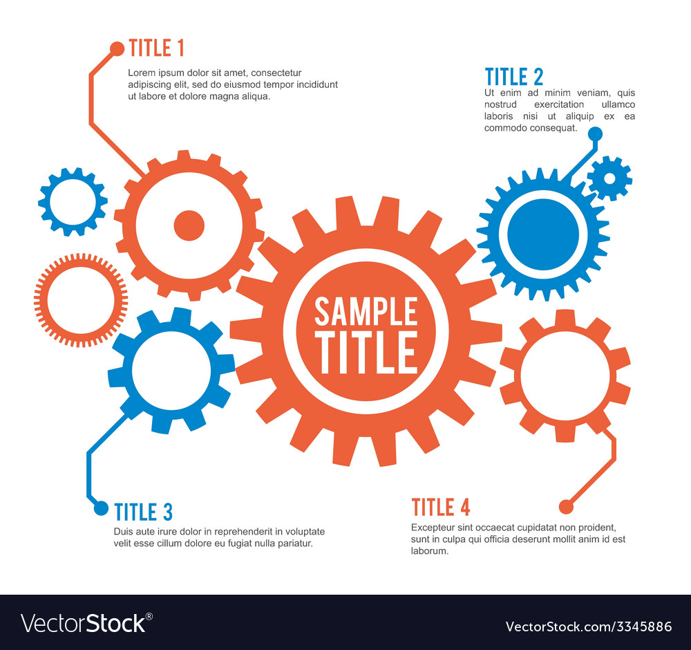 Gear design vector image