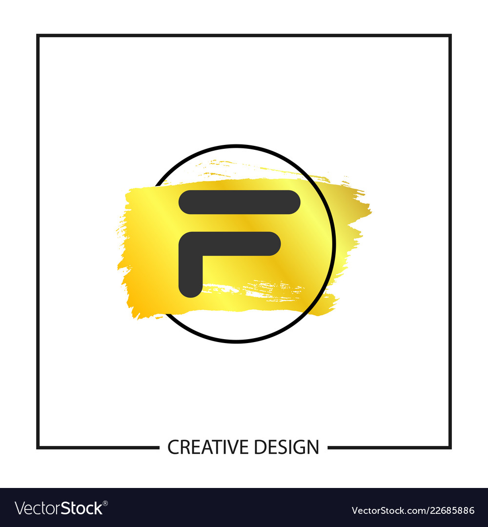 initial letter f logo template design vector image