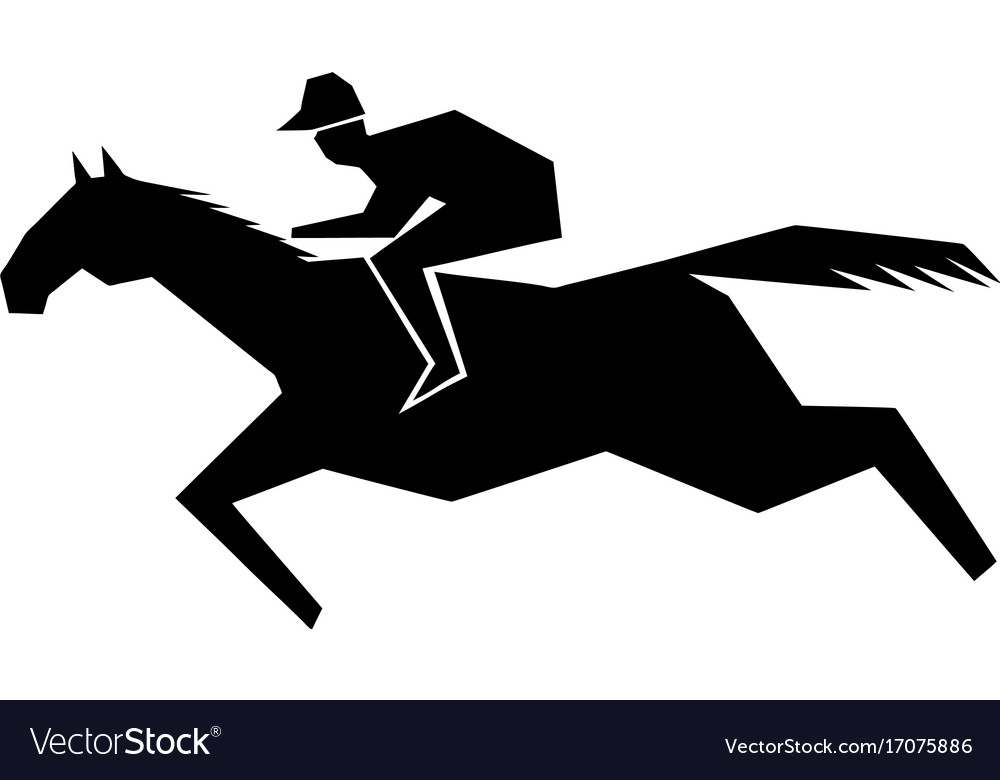 Jokey and horse vector image