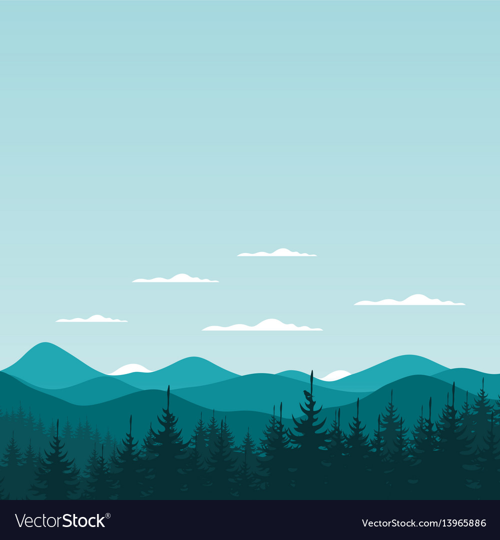 Mountain nature6 vector image