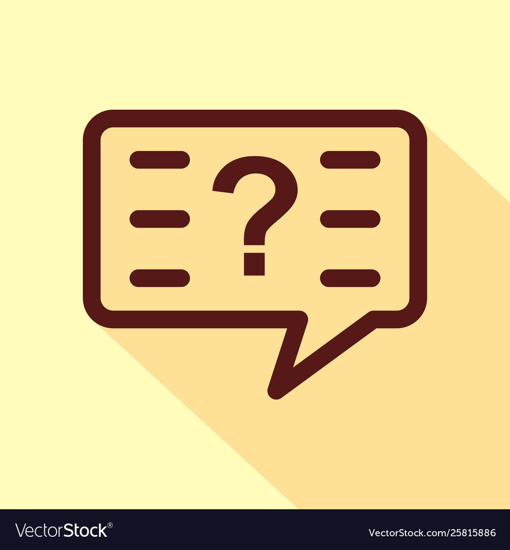 Question icon isolated on white background